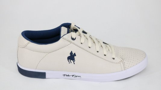 Tênis Polo Black Horse Farm Off White/Marinho
